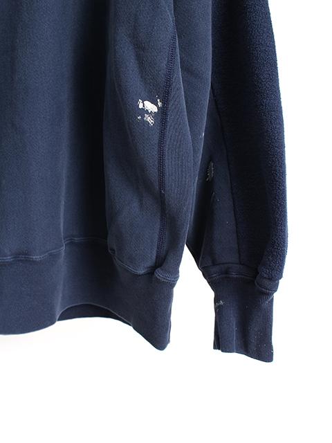 リメイクバックサイドクルースウェット袖裾ペンキ3