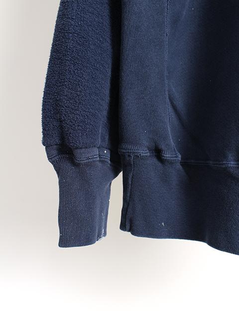 リメイクバックサイドクルースウェット袖裾ペンキ2