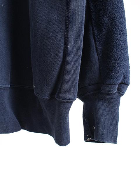 リメイクバックサイドクルースウェット袖裾ペンキ