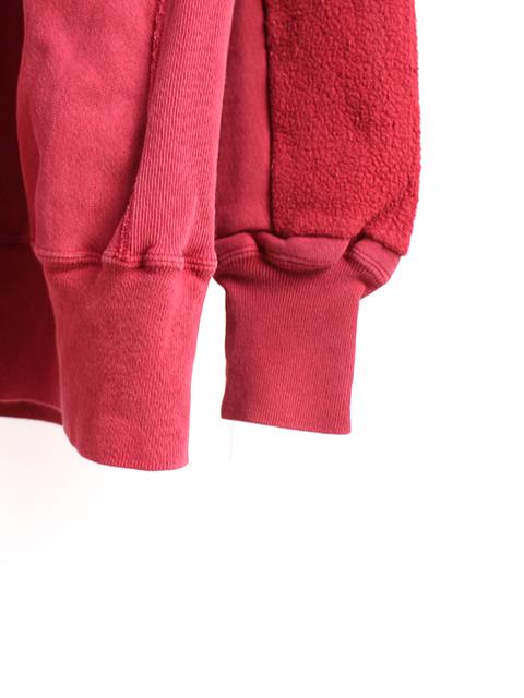 リメイクバックサイドクルースウェット袖裾