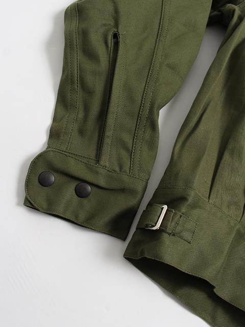 オーストラリア軍ドリルジャケット袖、裾部分