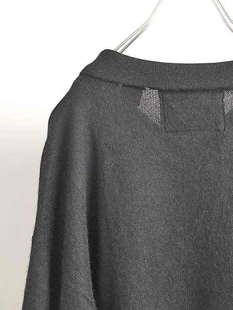 カシミアパッチワークセーターブラックサイズ2ポロ