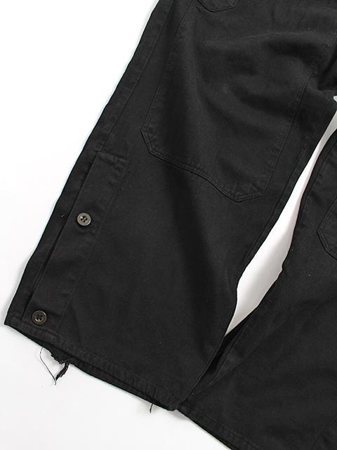 チェコ軍オーバーオールブラック裾アップ