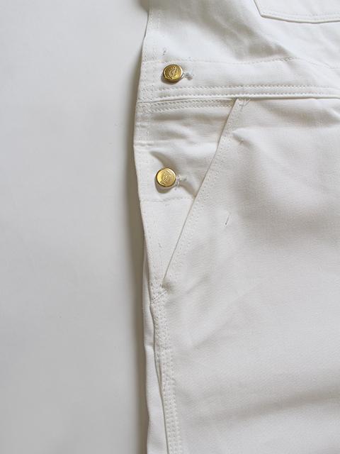 ディッキーズオーバーオールホワイトサイド金具