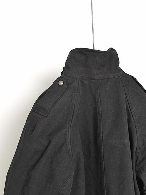 フランス軍モーターサイクルコート黒染めポケット付き
