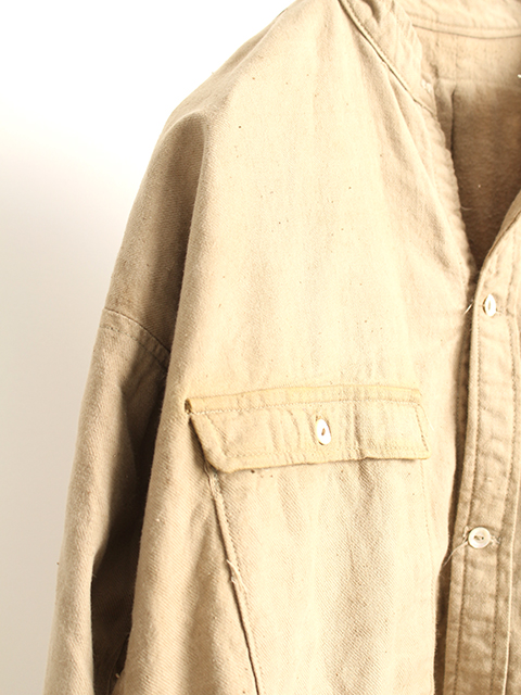 旧日本陸軍ノーカラーフランネルシャツ