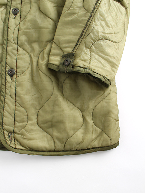 M65フィールドコートライナー袖、裾