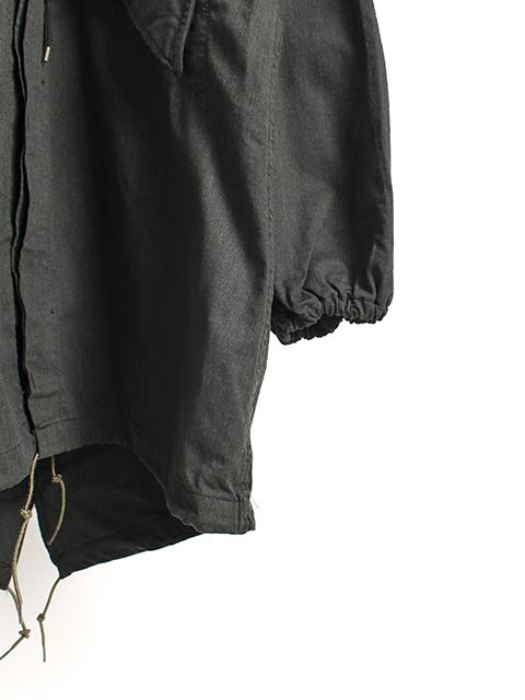 ナイトカモフィールドパーカブラック袖裾