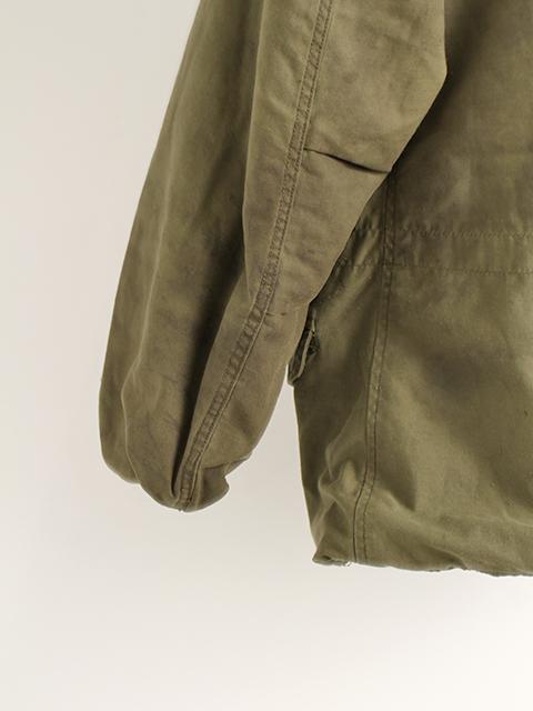 リメイクM-65ミリタリージャケットサイズ2左袖後