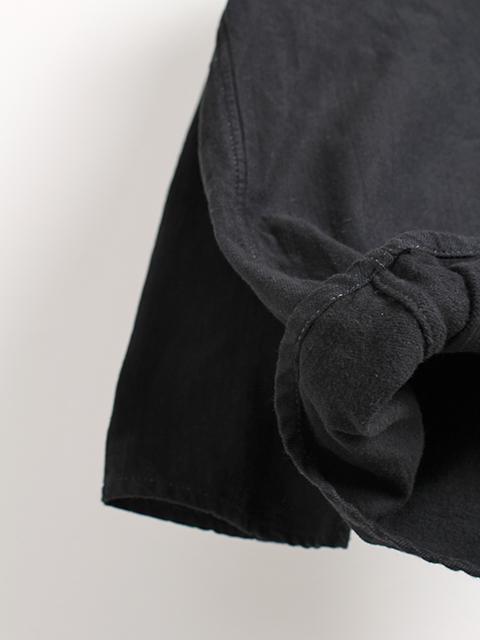 ロシア軍スリーピングシャツブラック素材アップ