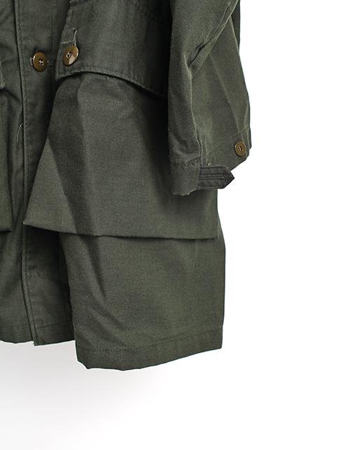 スウェーデン軍M-59ブラックグリーン袖裾
