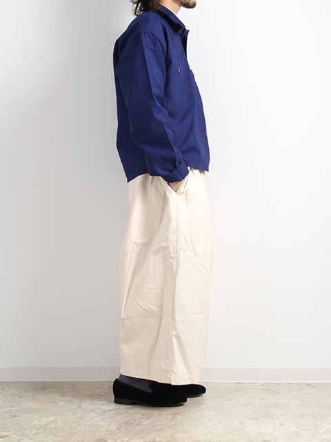スウェーデン40年代プルオーバーシャツ着画横