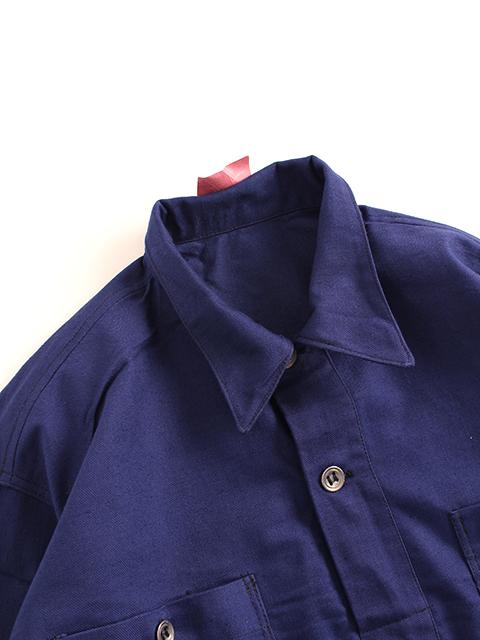 スウェーデン40年代プルオーバーシャツ襟回り