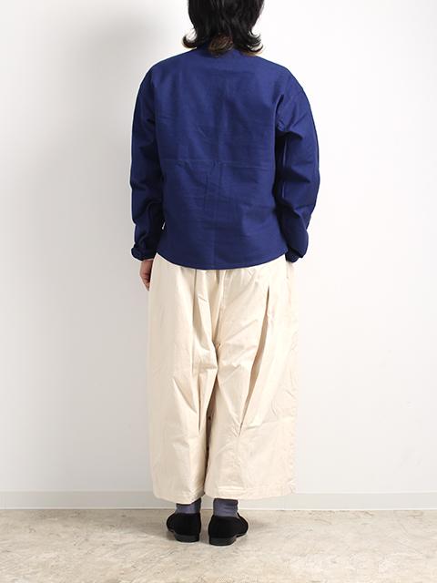 スウェーデン40年代プルオーバーシャツ着画後