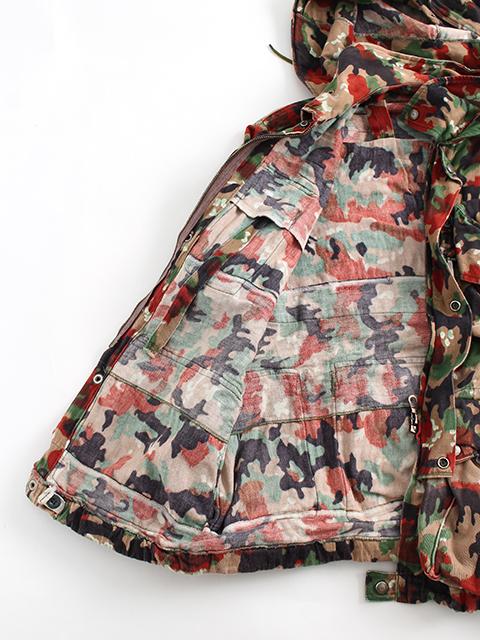 スイス軍アルペンカモマウンテンジャケット裏