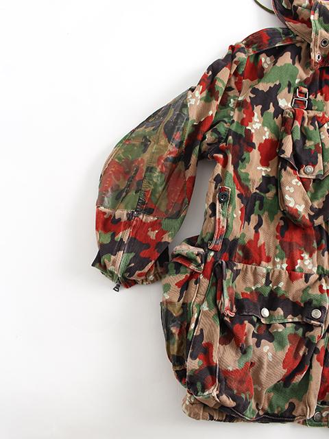 スイス軍アルペンカモマウンテンジャケット袖部分