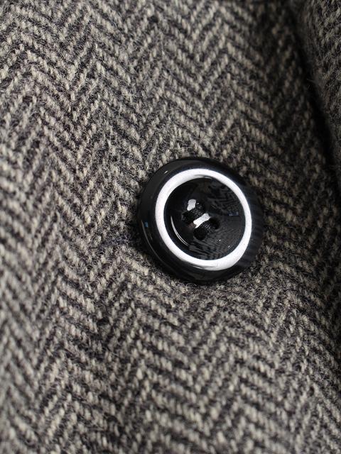 ツイードリメイクポンチョボタン