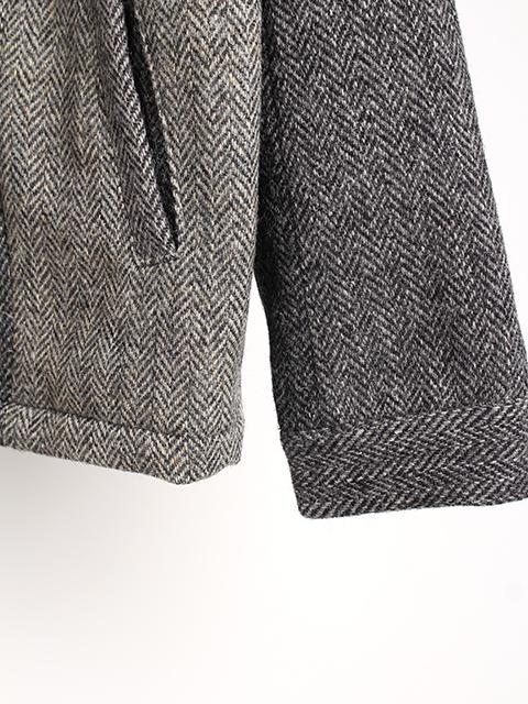 ツィードリメイクコーチジャケットM袖裾