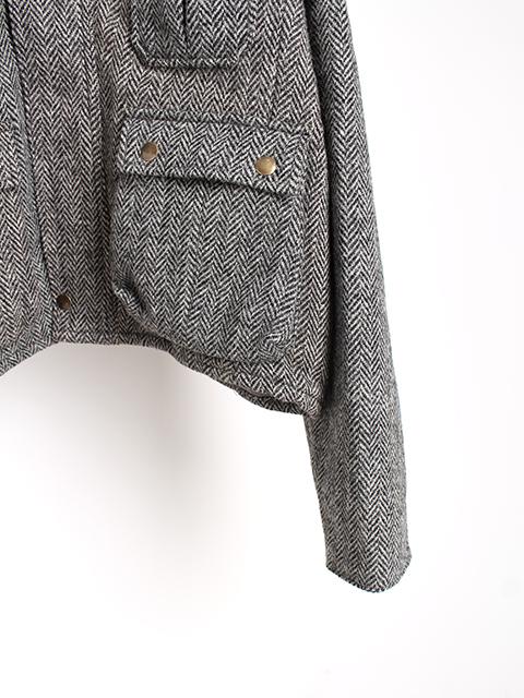 ツィードリメイクウェーディングジャケットA袖裾