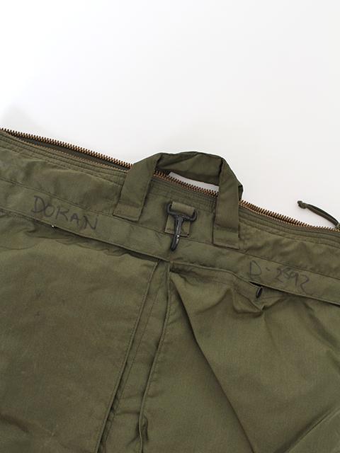 USAFヘルメットバッグ外ポケット部分