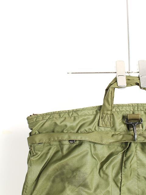 アメリカ空軍ヘルメットバッグ80年代ブラスジップUSED