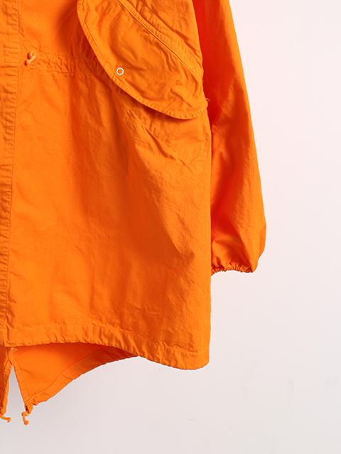 アメリカ軍スノーパーカーオーバーダイオレンジ袖裾