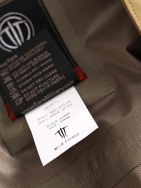 ワイルドシングスタクティカルゴアテックスジャケット品質表示
